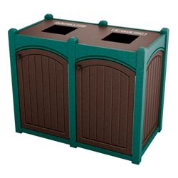 Double Topload Bead Board Waste Bin with 45 Gallon Capacity