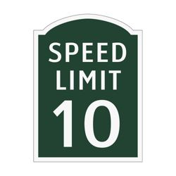 Speed Limit 10 Outdoor Sign