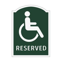 Reserved Handicapped Outdoor Sign