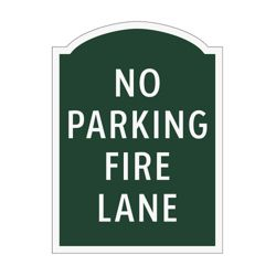 No Parking Fire Lane Outdoor Sign