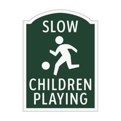 Slow Children Playing Outdoor Sign