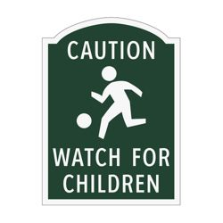 Caution Watch For Children Outdoor Sign