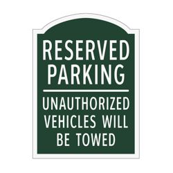 Reserved Parking Outdoor Sign