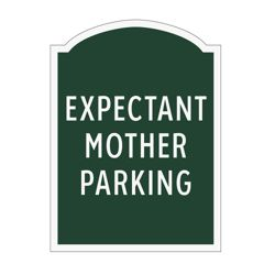 Expectant Mother Parking Outdoor Sign