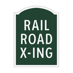 Railroad Crossing Outdoor Sign