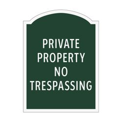 Private Property No Trespassing Outdoor Sign