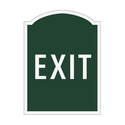 Exit Outdoor Sign