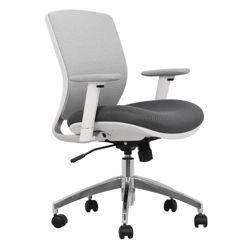 Mesh Ergonomic Task Chair with White Frame
