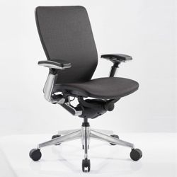Mid-Back Mesh Ergonomic Computer Chair with Black Frame