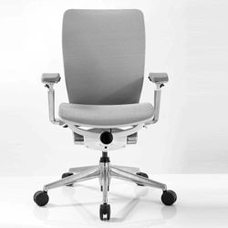 Mid-Back Mesh Ergonomic Computer Chair with White Frame