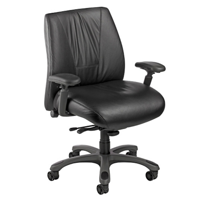 Leather Ergonomic Chair with Graphite Frame