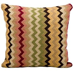 "kathy ireland by Nourison Zigzag Square Pillow - 18"" x 18"""