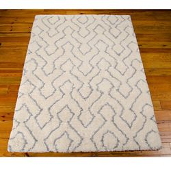 Contemporary Print Area Rug - 7.5'W x 9.5'D