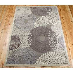 Circle Print Area Rug 5.25'W x 7.42'D