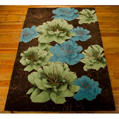 kathy ireland by Nourison Floral Area Rug 8'Wx10.5D""