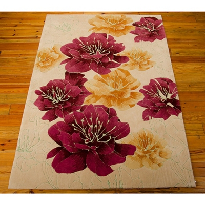 kathy ireland by Nourison Floral Area Rug 5'W x 7.5'D