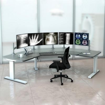 """Radiology Adjustable Height Split Table 111"""" W"""