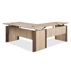 """Allure Executive L-Desk - 66""""W x 78""""D"""