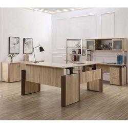 Allure Height Adjustable L-Desk Office Suite