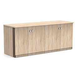 """Allure 72""""W x 29.5""""H Low Wall Cabinet with Wood Doors"""