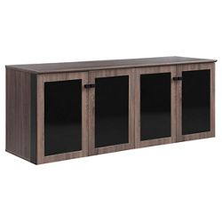 """Allure 72""""W x 29.5""""H Low Wall Cabinet with Glass Doors"""
