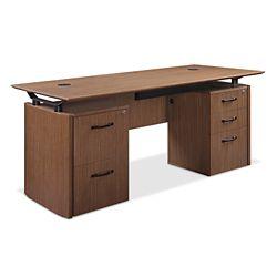 """Diamond Executive Desk with Storage- 66""""W x 30""""D"""