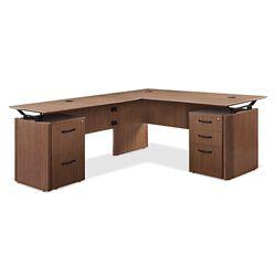 """Diamond Executive L-Desk with Storage - 72""""W x 78""""D"""