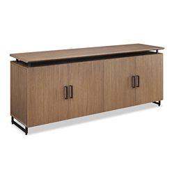 "Summit 72""W Low Wall Wood Door Cabinet"