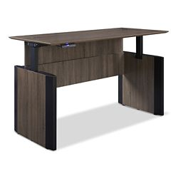 "Allure Height Adjustable Desk - 66""W x 30""D"