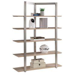 "Allure 68""H Five-Shelf Bookcase"