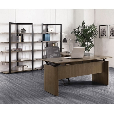 """Diamond Executive L-Desk with Two Bookcases - 66""""W x 78""""D"""