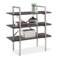 "Summit 38.5""H Three Shelf Bookcase"