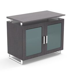 """36""""W Cabinet with Glass Doors"""