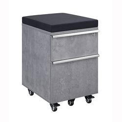 District Two-Drawer Mobile Pedestal with Cushion