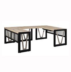 "District U-Desk with Reversible Bridge - 60""W"