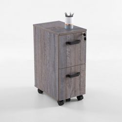 Forge Two-Drawer Mobile Pedestal