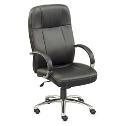 Que Faux Leather High Back Chair