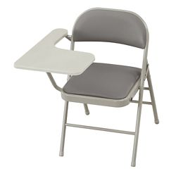 Treble Polyurethane Folding Chair with Tablet Arm