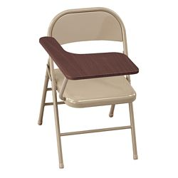 Treble Steel Folding Chair with Tablet Arm