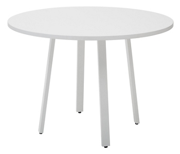 Laminate Round Conference Table With Metal Legs DIA And - White laminate conference table