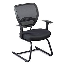 Linear Vertical Mesh Back Guest Chair