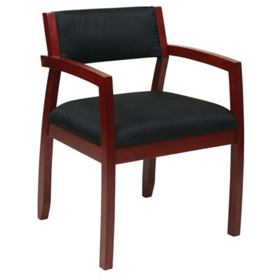 Wood Frame Upholstered Guest Chair