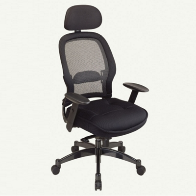 Office Chair with Mesh Fabric Seat and Headrest