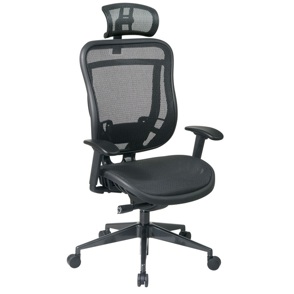 Mesh High Back Computer Chair with Headrest 57003 and more