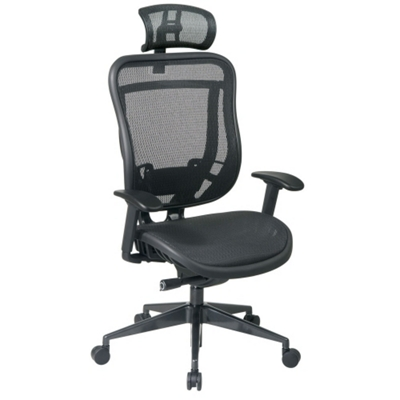 Mesh High Back Computer Chair With Headrest   57003 And More Lifetime  Guarantee