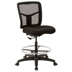 Mesh Back Armless Drafting Stool