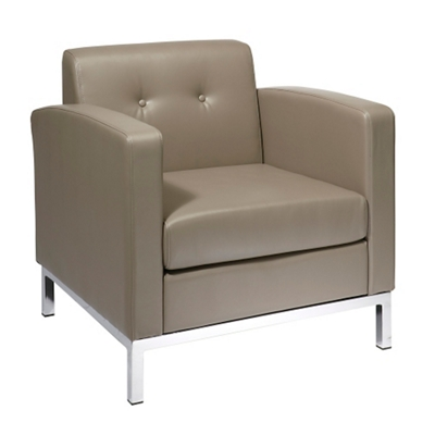 Modern Faux Leather Guest Chair
