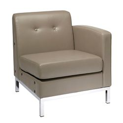 Right Single Arm Faux Leather Chair