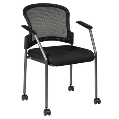 Guest Chair with Arms and Casters