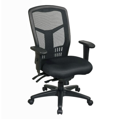 High-Back Mesh Chair with Seat Slider